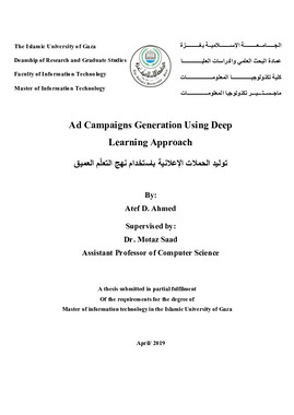 Ad Campaigns Generation Using Deep Learning Approach